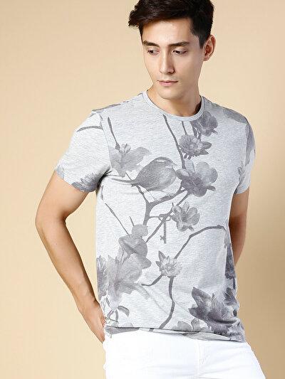 COLINS серый мужской футболки короткий рукав<br>Пол: мужской; Цвет: смешанный серый; Размер INT: M;