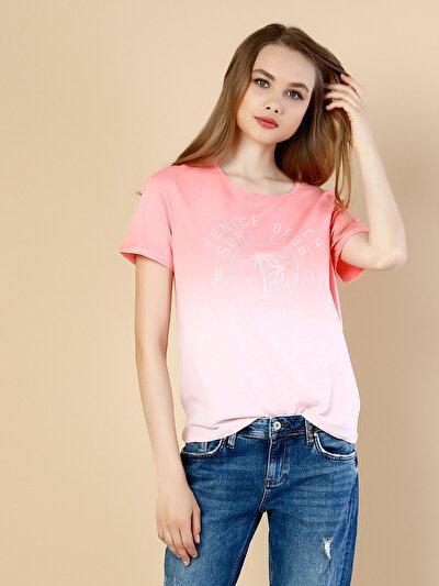 COLINS  женский футболки короткий рукав<br>Пол: женский; Цвет: пыльная гвоздика; Размер INT: S;