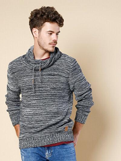 COLINS белый мужской свитеры<br>Пол: мужской; Цвет: снег меланж; Размер INT: M;