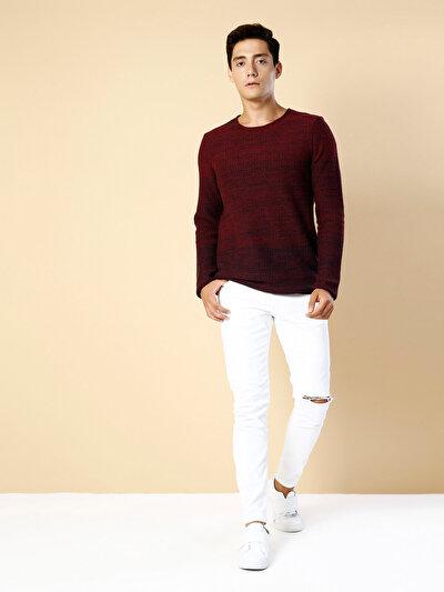 COLINS  мужской свитеры<br>Пол: мужской; Цвет: плам меланж; Размер INT: XL;