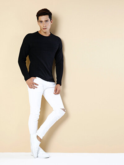 COLINS черный мужской свитеры<br>Пол: мужской; Цвет: черный; Размер INT: XXL;