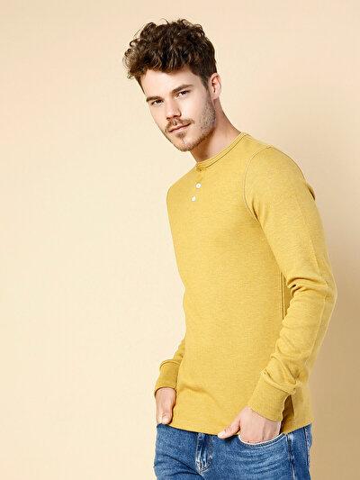 COLINS желтый мужской футболки длинный рукав<br>Пол: мужской; Цвет: yellow melange; Размер INT: L;