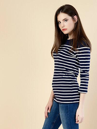 COLINS синий женский футболки длинный рукав<br>Пол: женский; Цвет: синий; Размер INT: XS;
