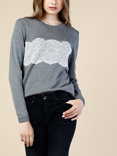 COLINS серый женский свитеры<br>Пол: женский; Цвет: тёмно-серый меланж; Размер INT: S;