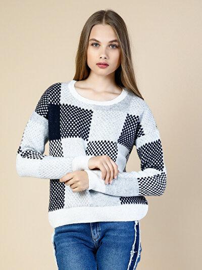 COLINS белый женский свитеры<br>Пол: женский; Цвет: белый; Размер INT: M;