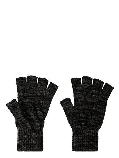 COLINS черный мужской перчатки<br>Пол: мужской; Цвет: чёрный меланж; Размер INT: STND;