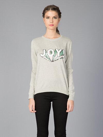 COLINS серый женский свитеры<br>Пол: женский; Цвет: смешанный серый; Размер INT: S;