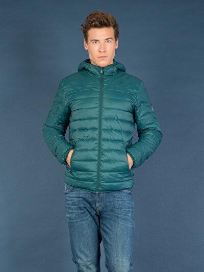 COLINS зеленый мужской куртки<br>Пол: мужской; Цвет: синевато-зелёный; Размер INT: M;