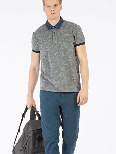 COLINS серый мужской футболки-поло к. рукав<br>Пол: мужской; Цвет: смешанный серый; Размер INT: S;