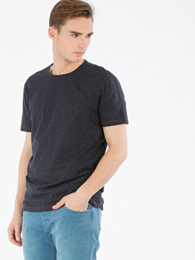 COLINS синий мужской футболки короткий рукав<br>Пол: мужской; Цвет: синий; Размер INT: XL;