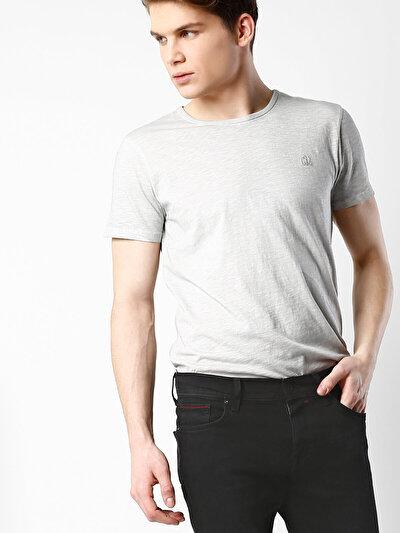 COLINS серый мужской футболки короткий рукав<br>Пол: мужской; Цвет: светло-серый; Размер INT: L;