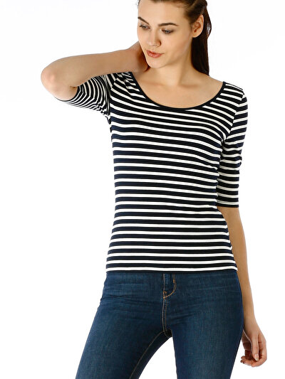 COLINS синий женский футболки короткий рукав<br>Пол: женский; Цвет: синий; Размер INT: XL;