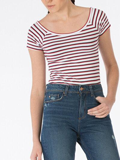 COLINS белый женский футболки короткий рукав<br>Пол: женский; Цвет: белый; Размер INT: XL;