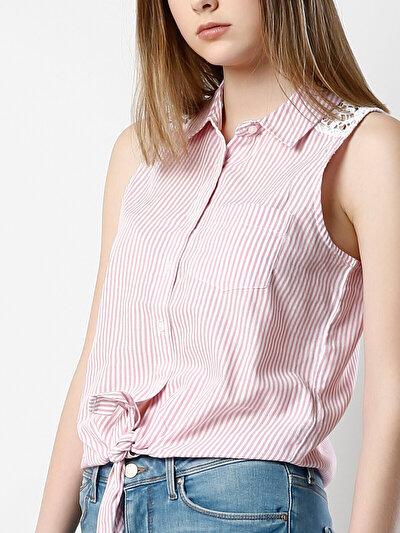 COLINS розовый женский рубашки короткий рукав<br>Пол: женский; Цвет: розовый; Размер INT: S;
