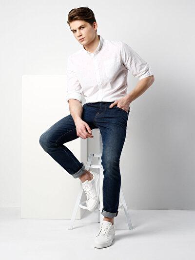 COLINS белый мужской рубашки длинний рукав<br>Пол: мужской; Цвет: белый; Размер INT: M;
