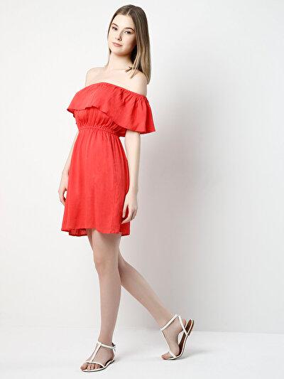 COLINS кораловый женский платья<br>Пол: женский; Цвет: кораловый; Размер INT: XS;