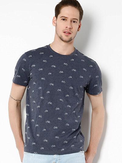COLINS синий мужской футболки короткий рукав<br>Пол: мужской; Цвет: синий меланж; Размер INT: L;