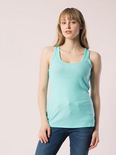 COLINS синий бирюзовый женский майки<br>Пол: женский; Цвет: бирюзовый зеленый; Размер INT: XS;