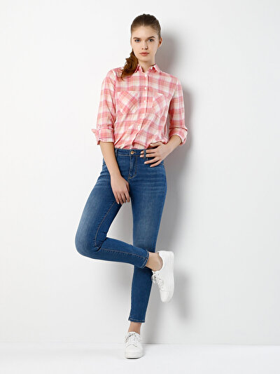 COLINS  женский брюки<br>Пол: женский; Цвет: элеонороа уош; Размер INT: 26/30;
