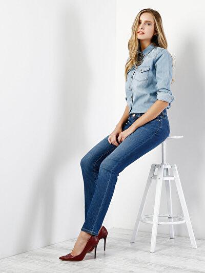 COLINS  женский брюки<br>Пол: женский; Цвет: мид стейси уош; Размер INT: 27/32;