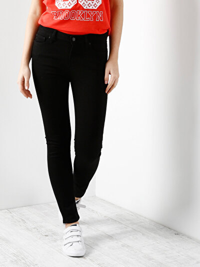 COLINS черный женский брюки<br>Пол: женский; Цвет: черный; Размер INT: 25/30;