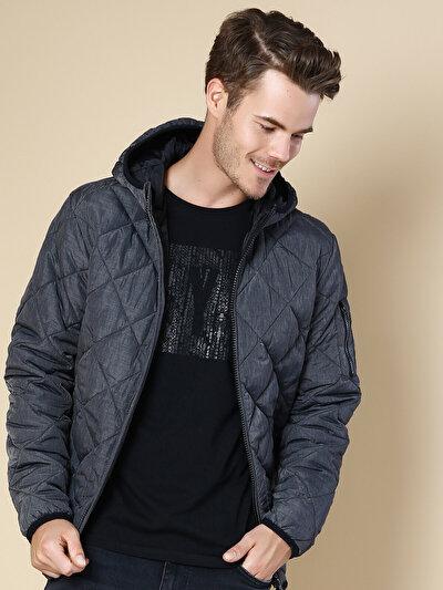 COLINS антрацит мужской куртки<br>Пол: мужской; Цвет: антрацит; Размер INT: XL;
