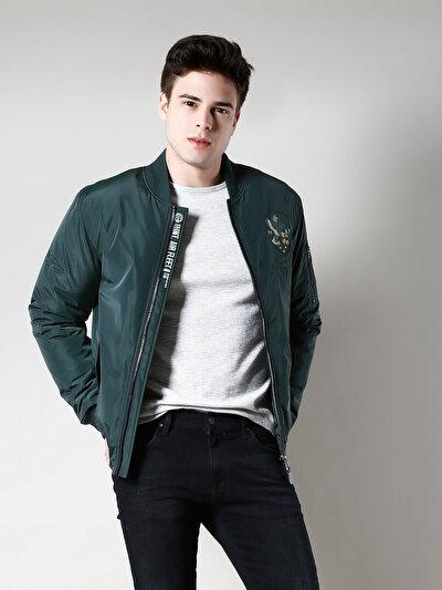 COLINS зеленый мужской куртки<br>Пол: мужской; Цвет: темный зеленый; Размер INT: S;