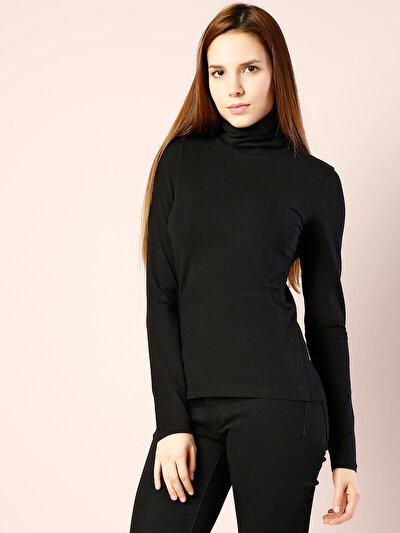 COLINS черный женский футболки длинный рукав<br>Пол: женский; Цвет: черный; Размер INT: M;