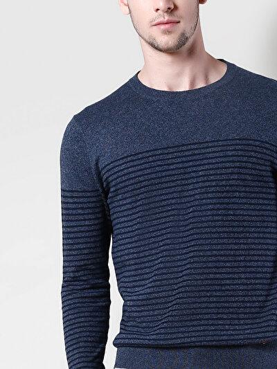 COLINS синий мужской свитеры<br>Пол: мужской; Цвет: синий меланж; Размер INT: XL;