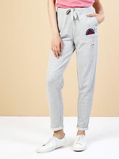COLINS серый женский спортивные брюки<br>Пол: женский; Цвет: смешанный серый; Размер INT: L;