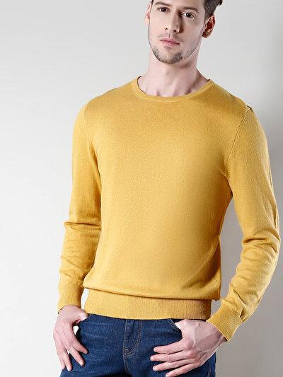 COLINS желтый мужской свитеры<br>Пол: мужской; Цвет: желтый меланж; Размер INT: L;