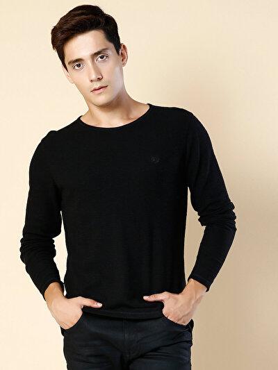 COLINS черный мужской футболки длинный рукав<br>Пол: мужской; Цвет: черный; Размер INT: S;