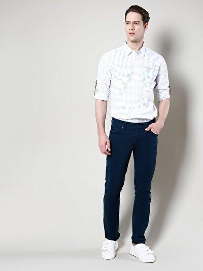 COLINS  мужской брюки<br>Пол: мужской; Цвет: зелёно-синий; Размер INT: 32/34;