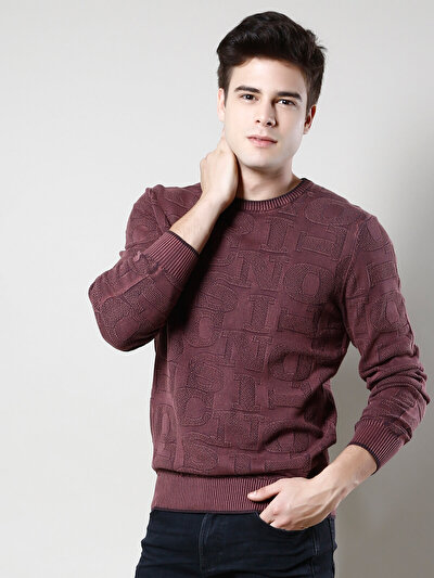 COLINS бордовый мужской свитеры<br>Пол: мужской; Цвет: бордовый; Размер INT: L;