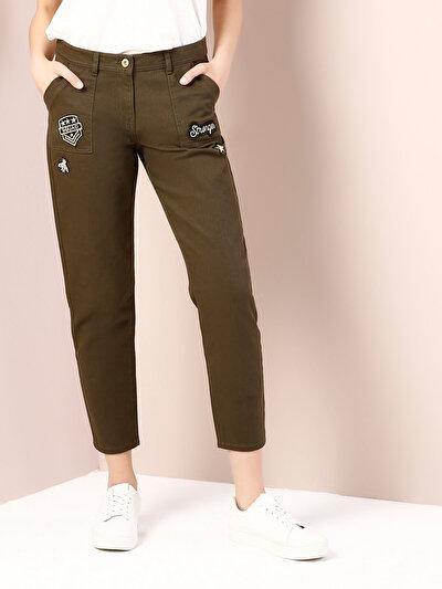 COLINS хаки женский брюки<br>Пол: женский; Цвет: хаки; Размер INT: 38;