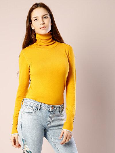 COLINS сафран желтый женский свитеры<br>Пол: женский; Цвет: сафран желтый; Размер INT: XS;