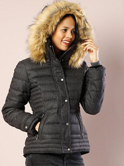 COLINS серый женский куртки<br>Пол: женский; Цвет: смешанный серый; Размер INT: XS;