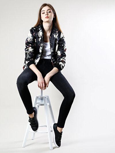 COLINS черный женский куртки<br>Пол: женский; Цвет: черный; Размер INT: XS;