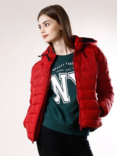 COLINS красный женский куртки<br>Пол: женский; Цвет: красный; Размер INT: XS;