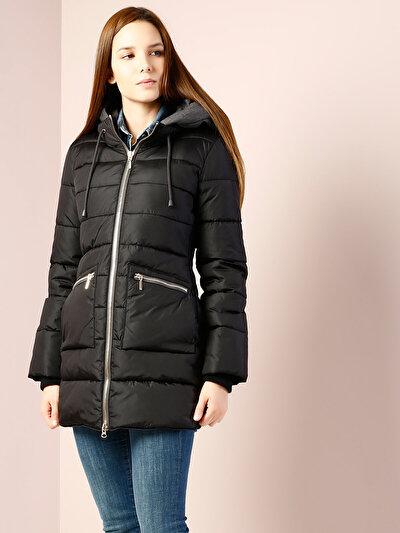 COLINS черный женский пальто<br>Пол: женский; Цвет: черный; Размер INT: L;