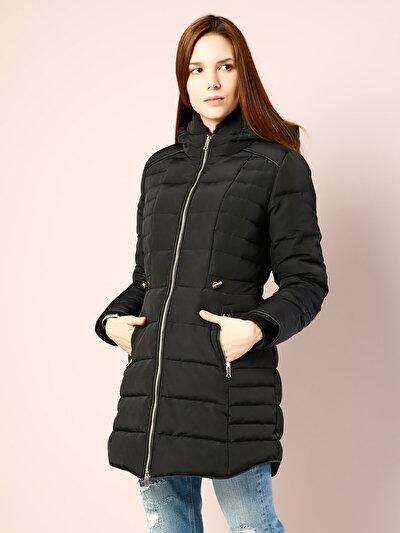 COLINS черный женский пальто<br>Пол: женский; Цвет: черный; Размер INT: M;