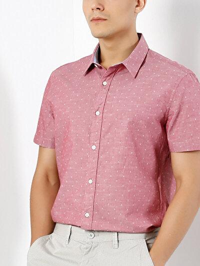 COLINS розовый мужской рубашки короткий рукав<br>Пол: мужской; Цвет: рос пинк; Размер INT: XXL;