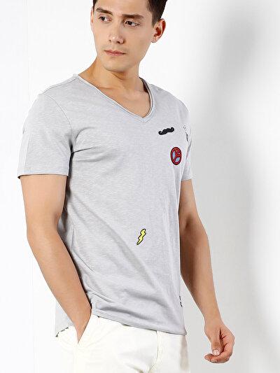 COLINS серый мужской футболки короткий рукав<br>Пол: мужской; Цвет: серый; Размер INT: XXL;