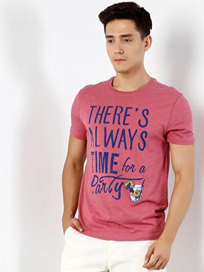 COLINS розовый мужской футболки короткий рукав<br>Пол: мужской; Цвет: рос пинк; Размер INT: M;