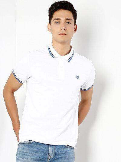 COLINS белый мужской футболки-поло к. рукав<br>Пол: мужской; Цвет: белый; Размер INT: XL;