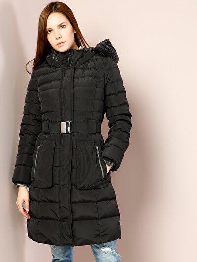 COLINS черный женский пальто<br>Пол: женский; Цвет: черный; Размер INT: S;