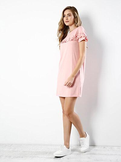 COLINS розовый женский платья<br>Пол: женский; Цвет: светло-розовый; Размер INT: S;