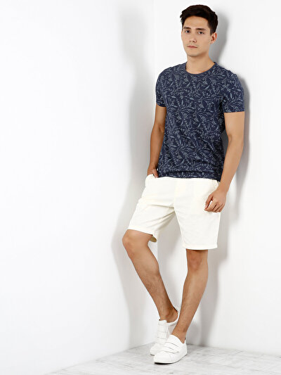 COLINS синий мужской футболки короткий рукав<br>Пол: мужской; Цвет: синий меланж; Размер INT: XL;