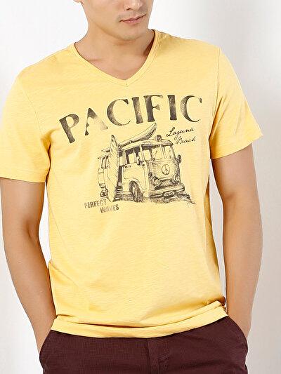 COLINS сафран желтый мужской футболки короткий рукав<br>Пол: мужской; Цвет: сафран желтый; Размер INT: S;