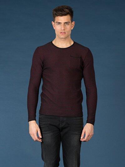 COLINS бордовый мужской свитеры<br>Пол: мужской; Цвет: бордовый; Размер INT: S;